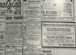 Advertentie uit vervlogen tijden